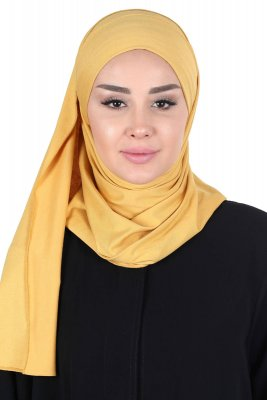 Kaisa - Hijab Coton Pratique Moutarde