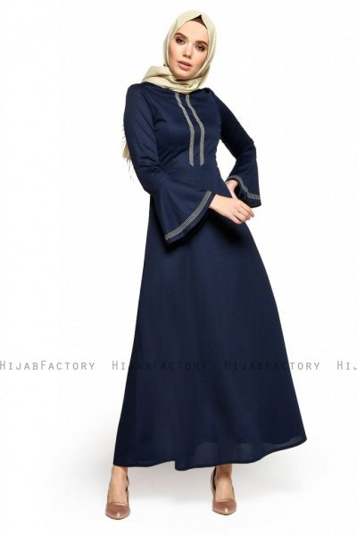 Deste - Robe Bleu Marin - Miss Halima